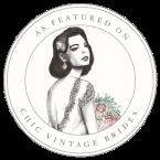 chic vintage bride badge 1